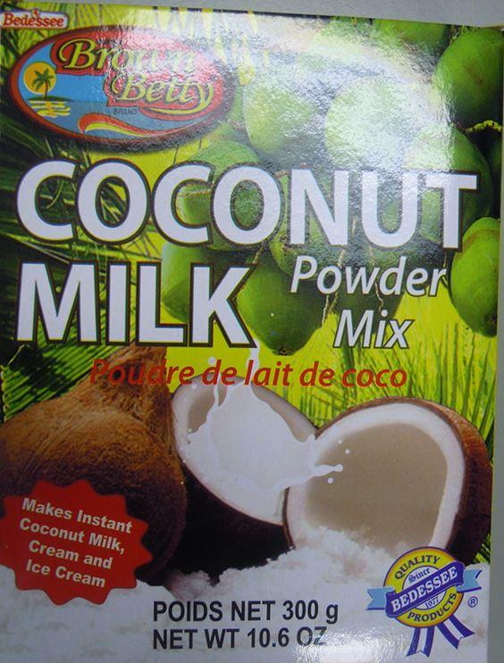 Food Recall Warning (Allergen) Brown Betty Coconut Milk Powder Mix