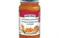 Food Recall Warning - Heinz brand Sweet Potato & Beef Medley infant food