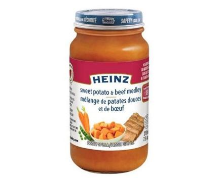 Food Recall Warning - Heinz brand Sweet Potato & Beef Medley infant food