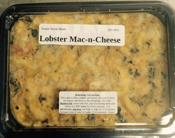 Food Recall Warning (Allergen) - Simple Simon Meals brand Lobster Mac-n-Cheese