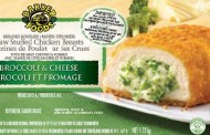 No Name and Barber Foods brands uncooked stuffed chicken products recalled