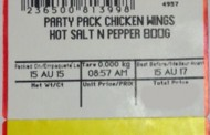 Various store-packaged, cooked Chicken Wings recalled