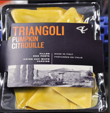 PC brand Triangoli Pumpkin Filled Egg Pasta recalled