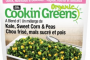 Cookin' Greens Organic brand A Blend of Kale, Sweet Corn & Peas recalled