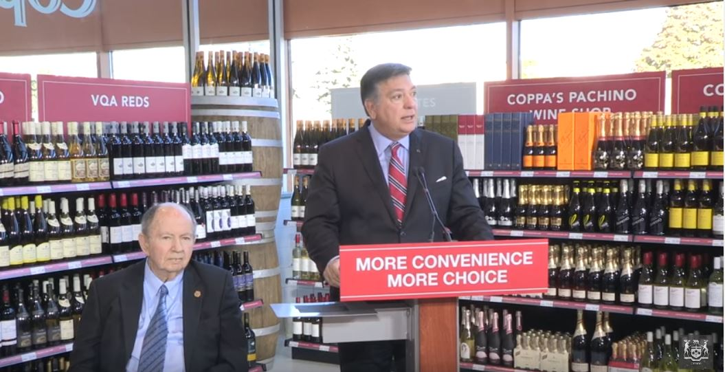 Wine hits grocery shelves in Ontario