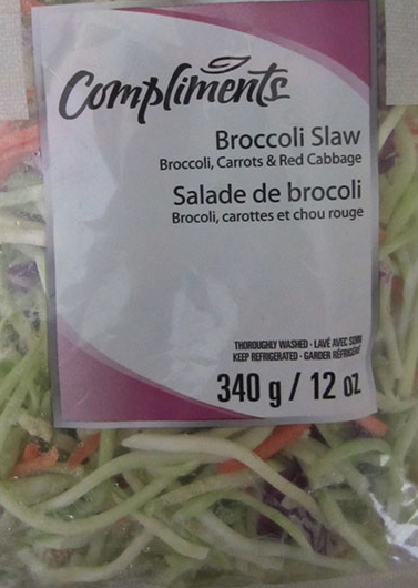 Compliments brand Broccoli Slaw recalled