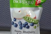 PC Organics brand Apple, Blueberry & Green Pea strained baby food recalled