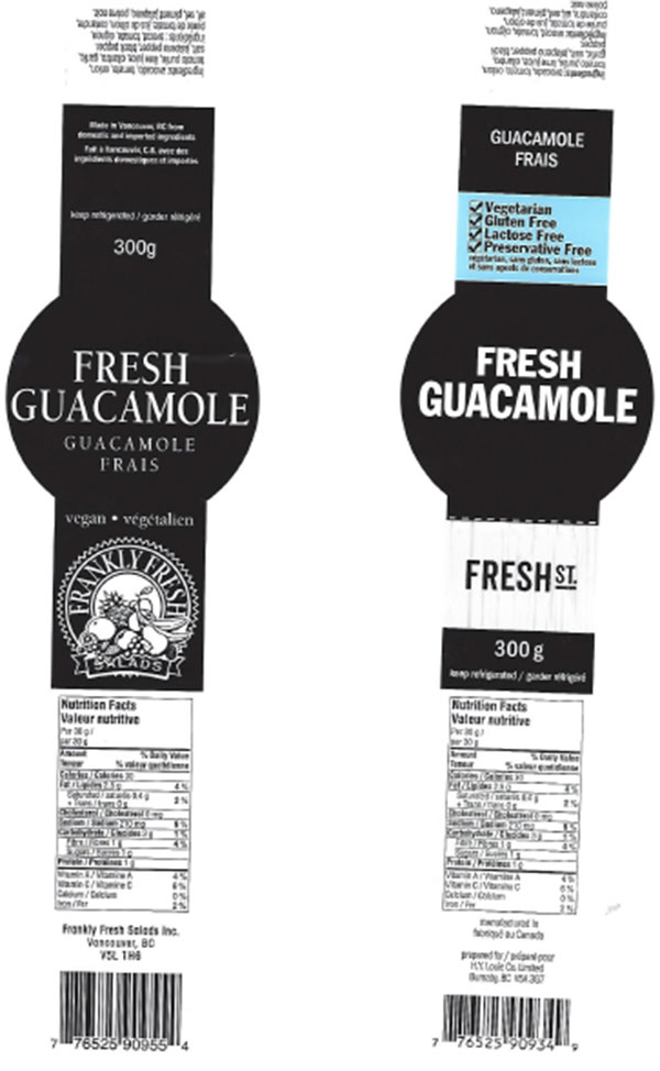 FOOD RECALL WARNING - Chef Destinations, Frankly Fresh Salads and Fresh St. brand Fresh Guacamole recalled due to Listeria monocytogenes