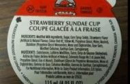 Food Recall Warning - Wholesome Farms brand Strawberry Sundae Cup recalled due to Listeria monocytogenes