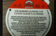 Wholesome Farms brand Sundae Cup recalled