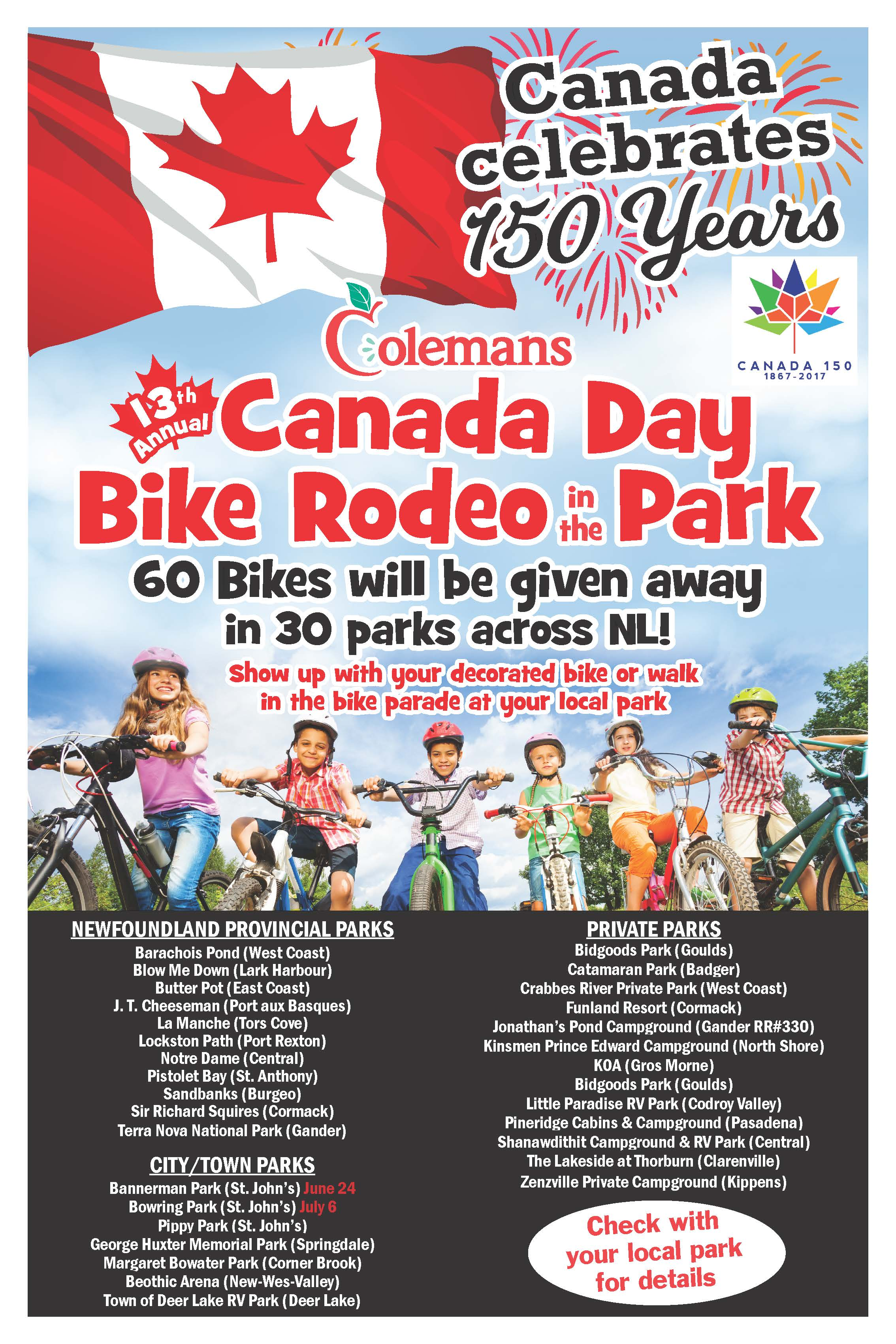 Colemans and Coca-Cola celebrate Canada Day with 13th Annual Bike Rodeo