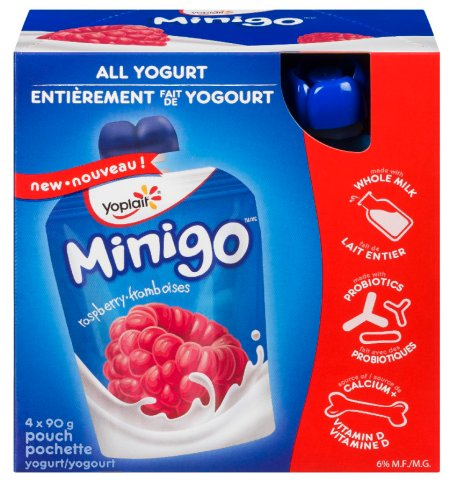 Yoplait Minigo brand and Liberté brand yogurt pouches recalled due to the potential presence of pieces of plastic