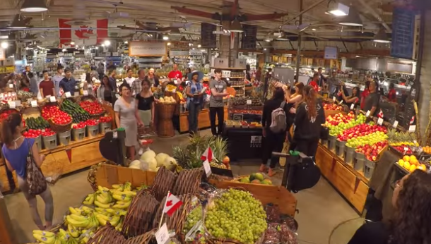 Urban Fare Yaletown Sings Anthem in the Aisles for Canada's 150th