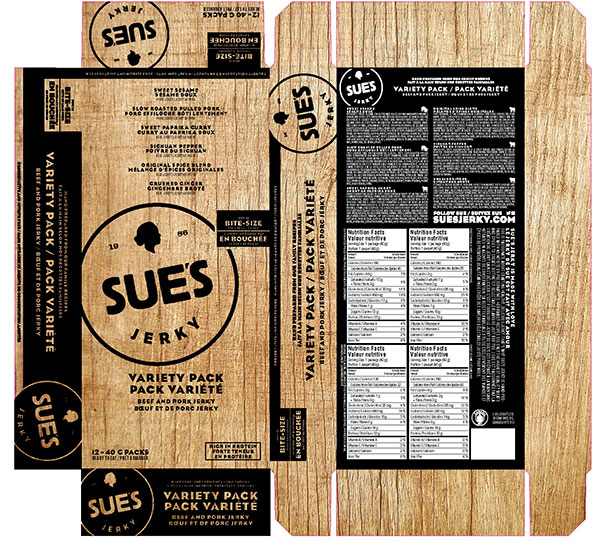 CFIA/ACIA Food Recall Warning (Allergen) - Sue's Jerky brand Sweet Sesame Pork Jerky recalled due to undeclared fish