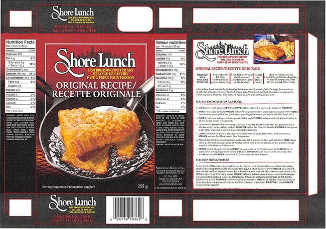 Food Recall Warning - Shore Lunch brand Fish Breading/Batter Mix recalled due to Salmonella