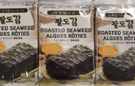 Paldo brand Seaweed Snack products and Lotte brand Kancho Choco Biscuit recalled
