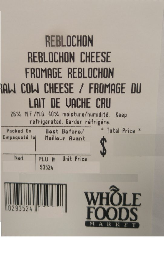 Updated Whole Foods Market recalls Reblochon Cheese
