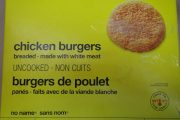 Certain no name brand Chicken Burgers recalled