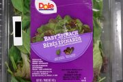 Dole brand Baby Spinach with Tender Reds Recalled