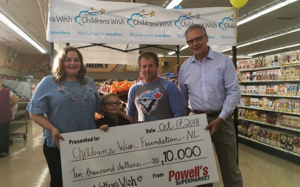 Powell's Supermarket Donates $10,000 To Children's Wish Foundation, Grants The Wish Of Local Child