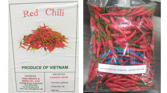 Canada Herb brand Red Chili recalled due to Salmonella
