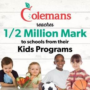 Colemans Reaches the Half-Million Mark with their Kids Programs in NL