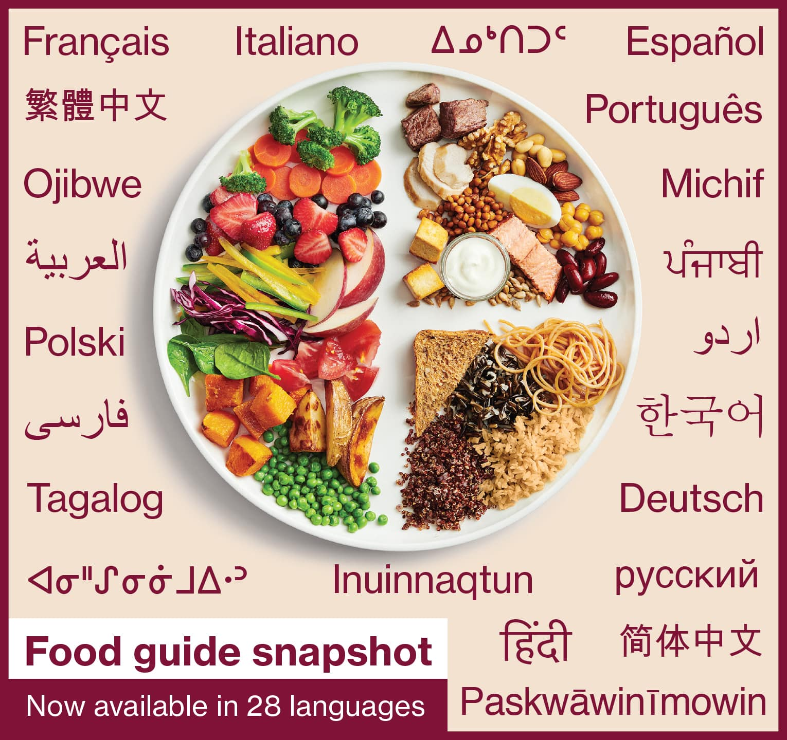 Health Canada - Canada's Food Guide Snapshot Now Available in 28 Languages