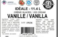 Updated Food Recall Warning  -  Idéale brand, Iceberg Premium brand and Originale Augustin brand ice cream and frozen yogurt products recalled due to possible presence of fine metal particles