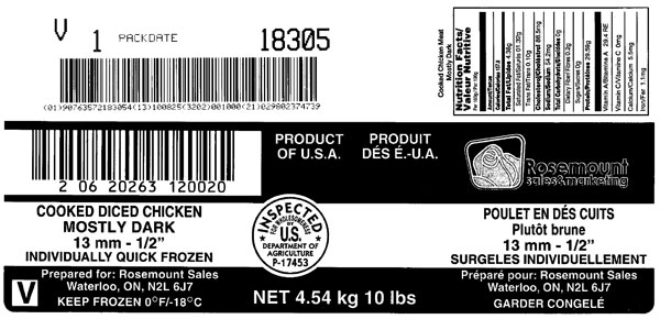 Updated Food Recall Warning - Rosemount brand cooked diced chicken recalled due to Listeria monocytogenes