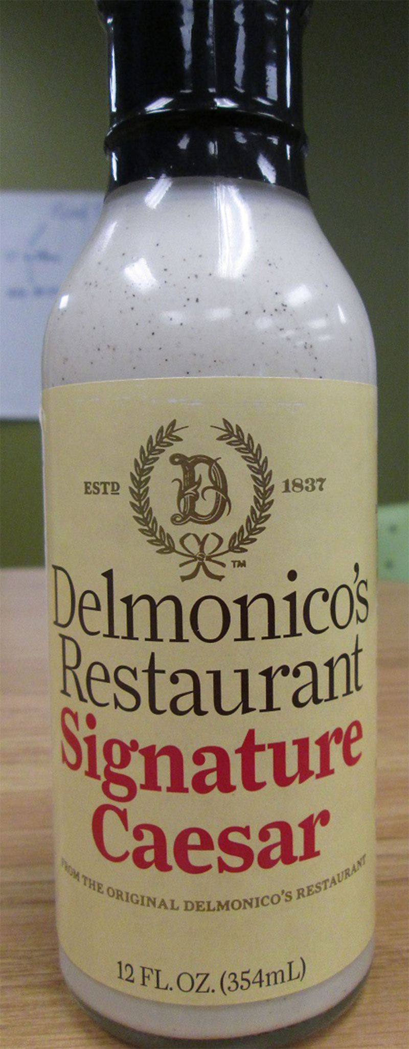 Food Recall Warning (Allergen) - Delmonico's Restaurant brand salad dressing recalled due to undeclared mustard