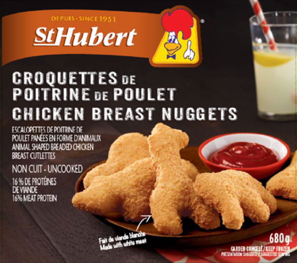 Updated Food Recall Warning - St-Hubert brand Chicken Breast Nuggets recalled due to presence of bone fragments