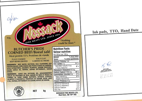 Food Recall Warning - Butcher's Pride Corned Beef and Pastrami recalled due to Listeria monocytogenes