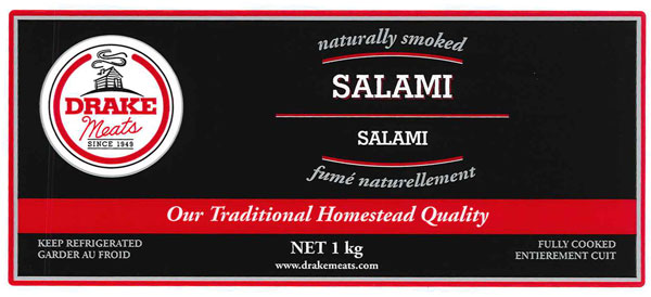 Food Recall Warning - Ready-to-eat Drake Meats brand Salami (chub) recalled due to potential undercooking