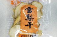 Food Recall Warning (Allergen) - Merilin brand Dried Pear recalled due to undeclared sulphites