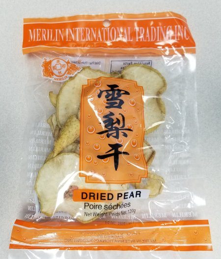 Food Recall Warning (Allergen) - Merilin brand Dried Pear recalled due to undeclared sulphites