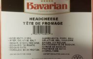 Food Recall Warning (Allergen) - Bavarian Premium Meats brand Headcheese recalled due to undeclared mustard