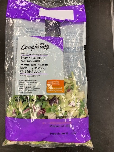 Food Recall Warning - Compliments brand Sweet Kale Blend recalled due to Listeria monocytogenes