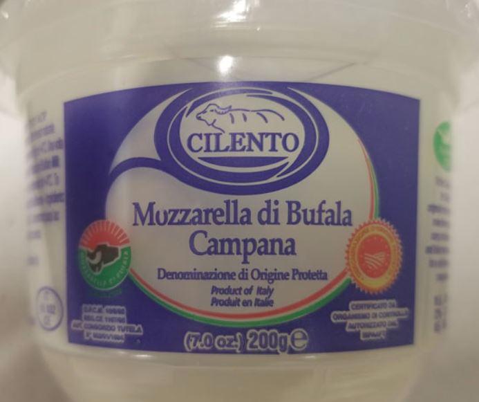 Cilento brand Mozzarella di Bufala Campana recalled due to Listeria monocytogenes