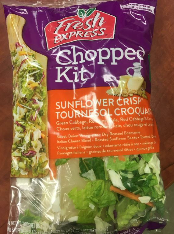 Food Recall Warning - Fresh Express brand Sunflower Crisp Chopped Kit recalled due to E. coli O157:H7