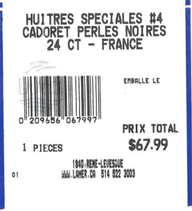 Certain Les Huîtres Cadoret – La Perle Noire brand #4 oysters recalled due to norovirus