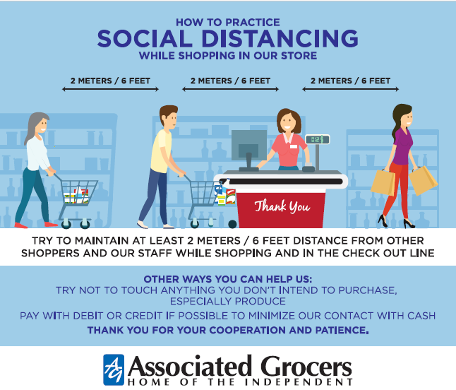 Graphics: How to Practice Social Distancing while Shopping in Our Store