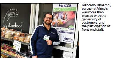 Vince's S.O.S. Food Drive raises $12,000 for local shelters